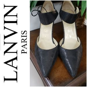 Lavin 9.5 or 10 Black Lizzard Heel